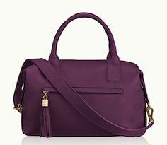 Stylish Fall purple tote bag