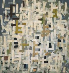 'No. 9' (1952) by American abstract expressionist painter Bradley Walker Tomlin (1899-1953). Oil on canvas, 84 x 79 in.via The Phillips Collection