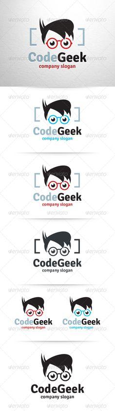 Code Geek Logo Template — Vector EPS #fun #geek • Available here → https://graphicriver.net/item/code-geek-logo-template/6542983?ref=pxcr