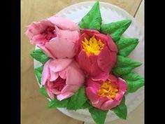 Tulips buttercream flower wreath cake - how to make by Olga Zaytseva /CAKE TRENDS 2017 #13 - YouTube