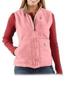 $99.99 Carhartt Womens WV001 Sandstone Mock Neck Vest Quilt Lined - Sherbet| http://camouflage.ca
