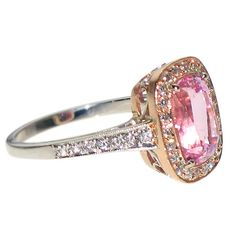 Pink Sapphire Ring set in Rose Gold from INTA Gems