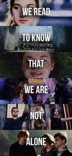 Divergent, The Maze Runner, TFIOS, The Hunger Games, Harry Potter❤️❤️ Don't know what is I Love Books, Good Books, Books To Read, Movie Quotes, Book Quotes, Book Of Life, The Book, Citations Film, Fandom Quotes