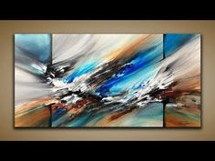 Abstract Painting / DEMO 61 / Abstract Art / Palette Knife and Brush / Painting Techniques - YouTube