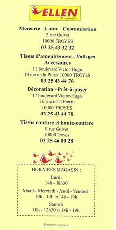 Flyer ellen decoration Laura Lee, Mercerie Paris, Bullet Journal, How To Plan, Boutiques, Decoration, Tejidos, France, Tents
