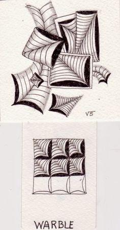 An Artist Labyrinth: Ginny Stiles CZT: Zentangle Challenge: Mixing it up