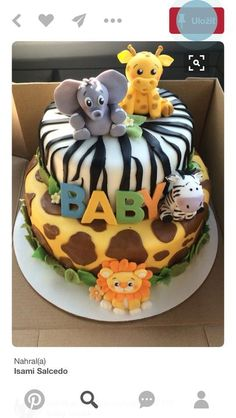 Discover ideas about bolo fake safari. january jungle fever/ safari theme baby shower cake by Safari Baby Shower Cake, Baby Boy Shower, Jungle Theme Baby Shower, Jungle Theme Cakes, Safari Cakes, Baby Shower Cakes For Boys, Jungle Safari Cake, Jungle Party, Animal Baby Showers