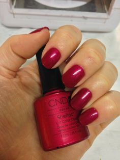 CND Shellac - Red Baronesss swatch.