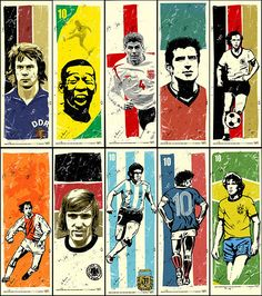 Legends (C) unknown Legends Football, Football Icon, Football Art, Vintage Football, Youth Soccer, Kids Soccer, Soccer Stars, Sports Stars, Soccer Poster