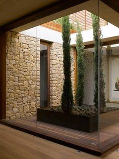 Love the idea of an interior courtyard with plantings