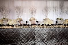 Pewter Pintuck Table Linen