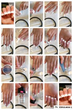 Step by step to how to do your own acrylics  French tip nails  Disclaimer: I did not get this from the Internet!  nails by its._.c