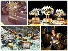 The guys at Deckstool decided to do something a little different this year when it came time for their annual donation to SkateFest / Sk8 for a Cause in Fairfax, VA. Rather than give products to be raffled as they have the previous years, they decided the design and build custom recycled skateboard trophies for … Read More » #Design, #Graffiti, #Recycled, #Skateboard, #StreetArt #RecycledSportsEquipment Sand Pits For Kids, Go Skateboarding Day, Boat Bookcase, Skateboard Deck Art, Wooden Canoe, Tree Felling, Trophy Design, Garden Shelves, Old Boats