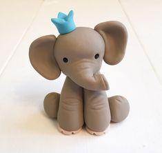 Adorno de torta de cumpleaños de elefantes de por JadestoneStudio
