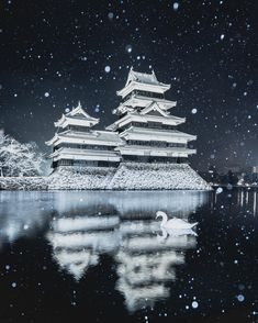 Visit Japan: With photos like this, it's easy to see why Matsumoto Castle is a National Treas… Japanese Castle, Japanese Art, Photo Pro, Kumamoto Castle, Monte Fuji, Nagano Japan, Visit Japan, Photos Voyages, Black Exterior