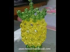 NANAS MANIK MOTE BEADS - YouTube Beaded Bags, Beaded Jewelry, Beaded Bracelets, Crochet Ball, Bead Crochet, Lisa Chan, Beaded Crafts, Star Ornament, Bead Art