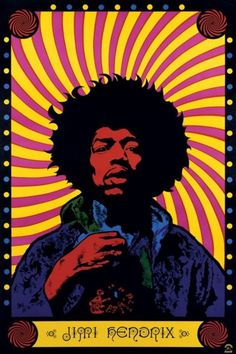 Jimi Hendrix - Psychedelic - Official Poster