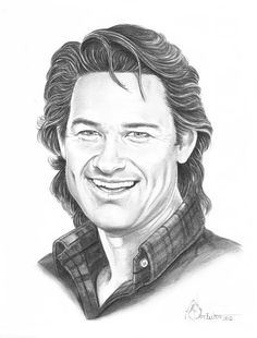 Kurt Russell Drawing by Murphy Elliott