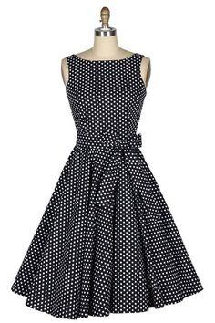 Vestido Vintage de Bolinhas - Vestido ano-novo