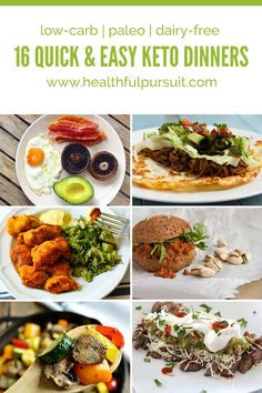 Quick and Easy Keto Dinners #keto #lowcarb #highfat #paleo #theketodiet #fatfueled #lchf #hflc
