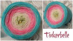 Tinkerbelle: (Mix) 5 Farben: lindgrün rosa blüte eisblau aqua wahlweise Lurex durchgehend
