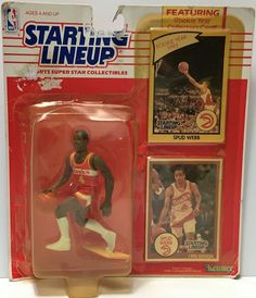 (TAS034800) - 1990 Hasbro Starting Lineup Figure - NBA Basketball Spud Webb