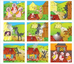Sequencing Pictures, Story Sequencing, Sequencing Activities, Picture Story For Kids, Three Little Pigs Story, Fairy Tale Activities, Body Preschool, Moral Stories For Kids, Picture Writing Prompts