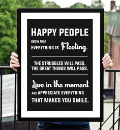 Available on BrandMentalistCollection.com  Positive thoughts. Happiness quote.