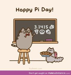 Happy Pi Day from Pusheen and Stormy Crazy Cat Lady, Crazy Cats, Pusheen Stormy, Pusheen Love, Pusheen Stuff, Happy Pi Day, Nyan Cat, Grumpy Cat, Image Hd