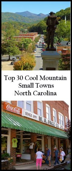 See our favorite 30 small towns near Asheville, North Carolina, in the Blue Ridge Mountains: https://www.romanticasheville.com/small_towns.htm