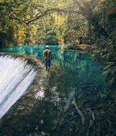 Walking at the most beautiful waterfall in the world Badian Cebu Philippines Tag an you would take here! Palawan, Bohol, Best Honeymoon Destinations, Dream Vacations, Travel Destinations, Vacation Travel, Beach Vacations, Beach Hotels, Beach Resorts