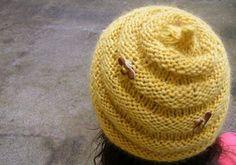 Free+Knitting+Pattern+-+Hats:+Beehive+Hat