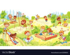 Funny Cartoon Characters, Cartoon Images, Funny Cartoons, Kids Sandbox, Kids Zone, Drawing For Kids, Kids Playing, Wallpaper Backgrounds, Playground Kids