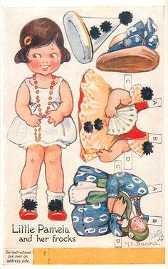 Margaret Banks-English (1899-1988) Raphael Tuck postcard 1921 Mechanical Doll Series