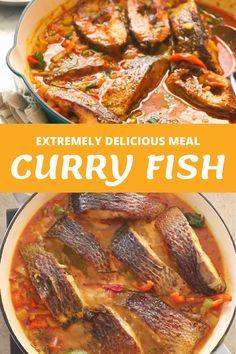 Jamaican Recipes, Curry Recipes, Fish Recipes, Seafood Recipes, Indian Food Recipes, Cooking Recipes, Healthy Recipes, Caribbean Fish Recipe, Caribbean Recipes