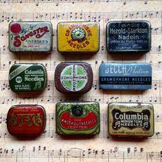 #gramophoneneedles #vintagetin #vintagepackaging