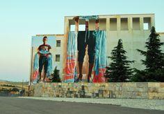 """FINTAN MAGEE """"Ibra"""" murale realizzato per Willoke urban art fest, July 2017 in Monteleone di puglia -Italy"""