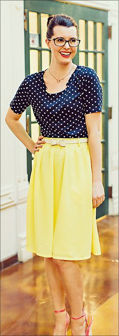 This lovely yellow chiffon skirt is fully lined, slips on, and has back elastic waistband. Full Chiffon Skirts/ Pencil Skirts/ Modest Skirts/ Lace Skirt/ Cream Skirt/ Trendy Modest Skirts/ Modest Fashion/ Modest Clothes/ Modest Clothing #sierrabrookeclothing