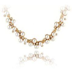 53d9a275226 Kymyad Fashion Gold Color Choker Necklace Crystal Imitation Pearl Necklaces    Pendants For Women Bijoux Collier Femme
