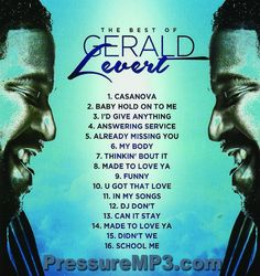 The Very Best Of Gerald Levert Mixtape CD Compilation #ClassicRB