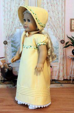 Regency Dress, Bonnet, and Pantalettes for Caroline. $89.00, via Etsy.