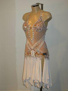 Latin Ballroom Dresses, Latin Dance Dresses, Awesome Dresses, Nice Dresses, Long Gowns, Fringe Dress, Dance Outfits, Dance Costumes, Tango