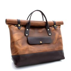 Part weekender, part tote, part briefcase  Entirely handcrafted from start to finish.