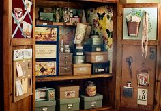Great armoire or old computer cupboard storage ideas