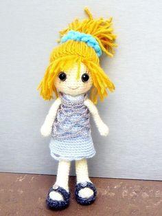 """Ella - Amigurumi girl doll pattern / PDF - crochet amigurumi. $4.95, via Etsy."" #Amigurumi  #crochet"