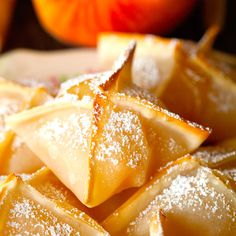 Baked Peach Wontons