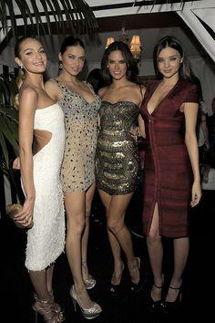 Candice Swanepoel, Adriana Lima, Alessandra Ambrosio, and Miranda Kerr