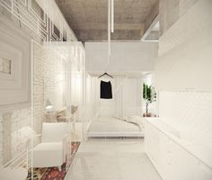 Store N01 by dontDIY, Glass walls with pattern