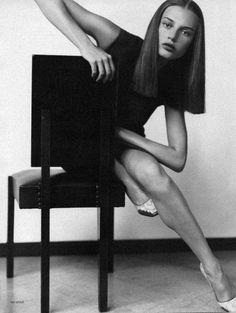 Bridget Hall for Vogue Russia, September 1998
