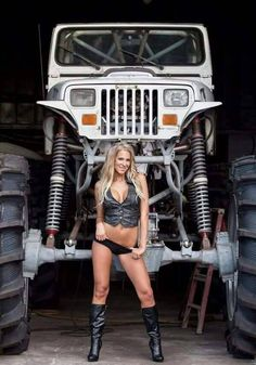 women bikes mopars-I think I like the girl dose she four-wheel drive? But the Jeep is attractive? RB